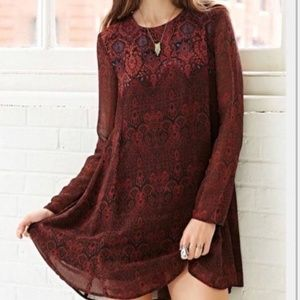 Urban Outfitters | Ecote Maroon Mini Dress